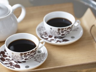 Black Coffee In Cups Served