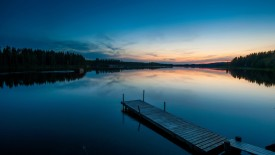 Wooden Pier at Dawn, Skelleftea, Lapland, Sweden