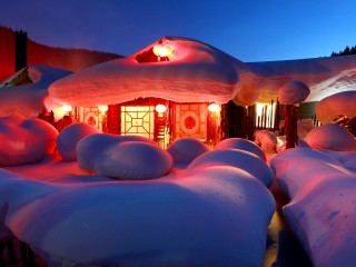 Farm Snow Village