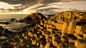 Hexagonal Basalt Columns, Giant's Causeway, County Antrim, Northern Ireland