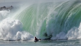 Huge Surf At The Wedge, Newport Beach, California