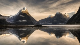 Mitre Peak, Milford Sound, Fjordland National Park, New Zealand
