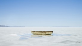 Rowboat In the Middle of Nowhere, Great Salt Lake Desert, Utah