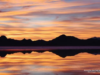 Bonneville Salt Flats at Sunset, Utah