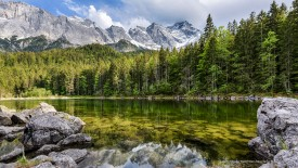 Lake Frillensee, Wetterstein Mountains, Bavaria, Germany