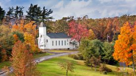 Country Church in Autumn, Maryland