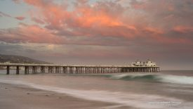 Malibu Pier at Sunset, California
