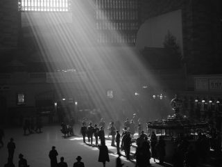 Sunbeams Shining into Grand Central Station, Manhattan, New York