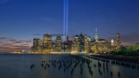 Tribute in Light From Brooklyn Heights, New York