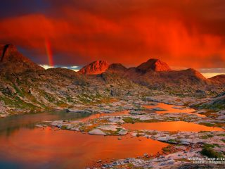 Wind River Range at Sunset, Wyoming