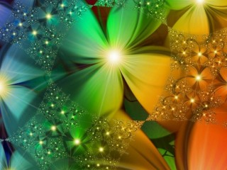 Abstract Flowers Shining