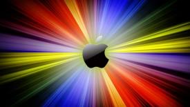 Apple Logo In Abstract Lines