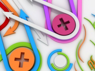 Colorful Arrows And Plus Wallpaper