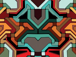 Colorful Shapes Abstract Wallpaper