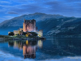 Eileen Donan Castle at Night, Scotland