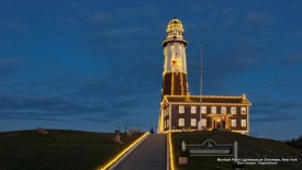 Montauk Point Lighthouse at Christmas, New York