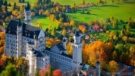 Neuschwanstein Castle in Autumn, Germany