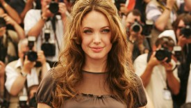 Angelina Jolie Brown Hair Among Photographers