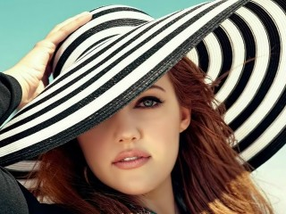 Meryem Uzerli In Big Hat