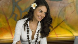 Mila Kunis With Flower Wallpaper