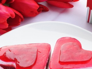 Heart Shaped Dessert With Roses