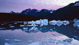Sunrise at Alsek Lake, Glacier Bay National Park, Alaska