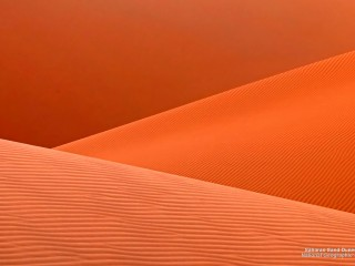 Saharan Sand Dunes at Sunset