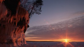 Ice Cave at Sunset, Lake Superior, Wisconsin