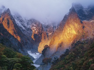 Mount Tanigawadake in Early Winter, Gumma, Japan