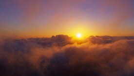 Sunrise from Summit of Haleakala, Maui, Hawaii