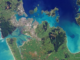 Auckland from Above, New Zealand