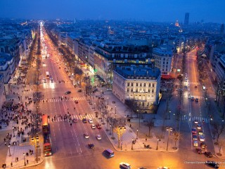Champs Elysees From the Arc de Triomphe, Paris, France