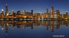 Chicago Skyline at Night, Illinois