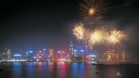 Chinese New Year Celebration, Hong Kong, China