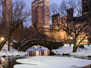 Gapstow Bridge in Central Park, New York