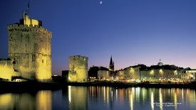 La Rochelle at Night, France