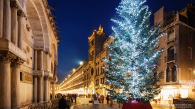 St. Marks Square at Christmas, Venice, Italy