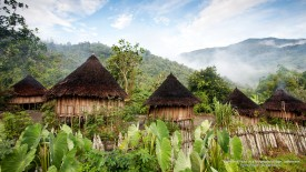Traditional Huts in a Mountain Village, Indonesia