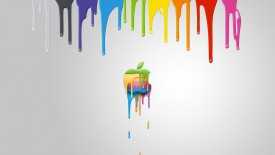 Apple Mac Brand Logo Colorful Paint