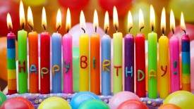 Happy Birthday Colorful Candles Wallpaper
