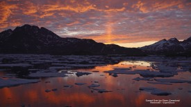 Sunset Over Ice Floes, Greenland
